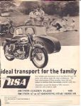 BSA A10 Motorcycle Poster